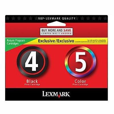 NEW GENUINE Lexmark 4/5 Black Color Ink Cartridges