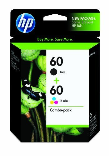 NEW GENUINE HP 60 Combo Pack (Black & Color)
