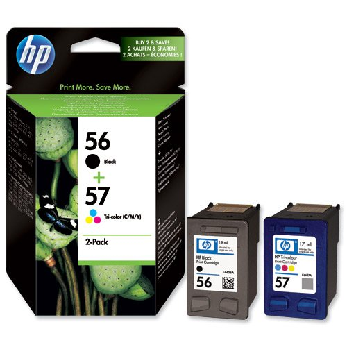 NEW GENUINE HP 56 + 57 Combo Pack (Black & Color)