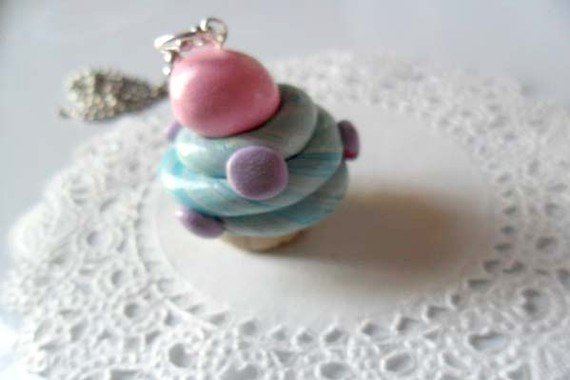 Katy Perry Themed Cupcake Necklace