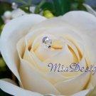 24 Swarovski 6mm Round Crystal Stem for Wedding Bouquet Flower or Cake Topper Decoration