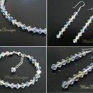 Swarovski Crystal Bracelet and Earrings Set for Wedding Bridal or Gift to Bridesmaid