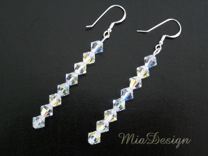 Swarovski Crystal Wedding Bridal / Bridesmaid Earrings / Birthday Gift - 12 Birthstone to choose