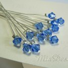 Swarovski Sapphire Crystal Stem for Wedding Bouquet Flower Decoration - Something Blue