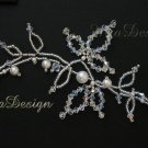 Swarovski Crystal & Pearl Bridal Hair Vine Tiara for Wedding Bride or Bridesmaids