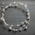 "Long 32"" Single Strand Bridal Hair Vine Swarovski Clear ab Crystal Wedding Bride or Bridesmaids"