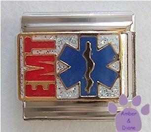 EMT Italian Charm *Emergency Medical Technician* symbol