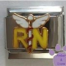 RN with Caduceus Italian Charm - Medical Symbol for Nurse