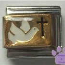 Dove for Peace and Cross for Faith Italian Charm