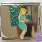 Beautiful Teal Fairy Italian Charm Megalink