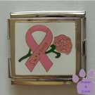Pink Ribbon Survivor and Rose Megalink Italian charm