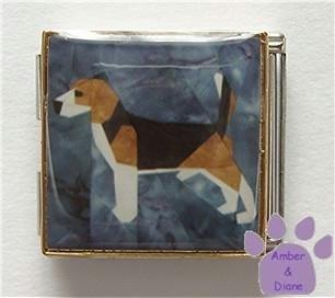 Beagle Custom Photo Italian Charm Megalink - Hound Dog