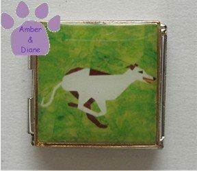 Greyhound or Whippet Running Photo Italian Charm Megalink