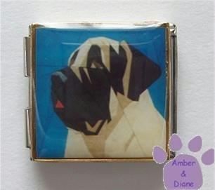 Mastiff Dog Custom Photo Italian Charm Megalink