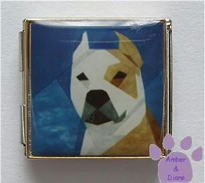 Pit Bull Terrier Custom Photo Italian Charm Megalink