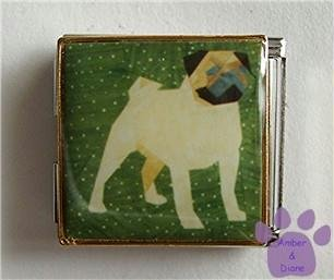 Pug Dog Custom Photo Italian Charm Megalink