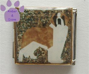 Saint Bernard Dog Custom Photo Italian Charm Megalink
