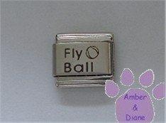 Fly Ball Laser Italian Charm with a Ball
