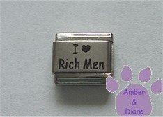 I Love Rich Men Laser Italian Charm