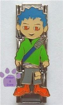 Little Boy Triple Link Italian Charm - cellphone
