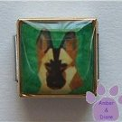 Belgian Malinois or Shepherd Dog 9mm Custom Photo Italian Charm