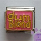 dum Blond Italian Charm for the blonde sense of humor
