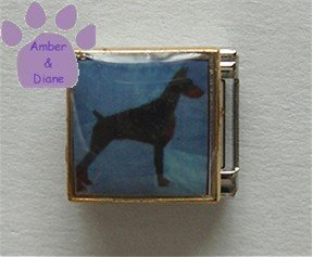Doberman Dog 9mm Custom Photo Italian Charm