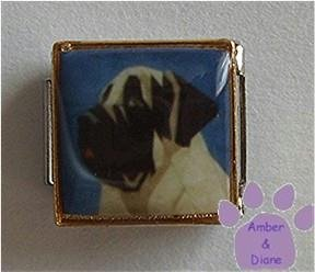 Mastiff Dog 9mm Custom Photo Italian Charm