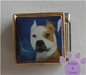 Pit Bull Dog 9mm Custom Photo Italian Charm