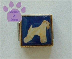 Soft Coated Wheaten Terrier Dog 9mm Custom Photo Italian Charm