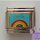 Rainbow PRIDE Italian Charm Gay Pride on Sky Blue