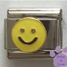 Yellow Smiley Face Italian Charm Happy Face