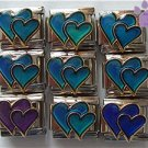 Double Heart Mood Italian Charm changes color with your moods