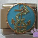 Anchor Circled with Rope Italian Charm for Sailor or Boater