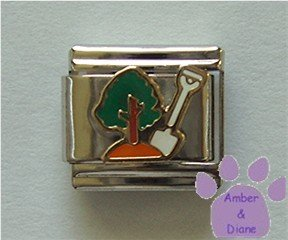 Plant a Tree Italian Charm - Earth Day or Arbor Day