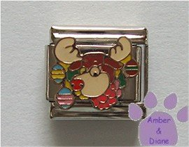 Rudolph the Red-Nosed Reindeer Italian Charm Christmas decoration