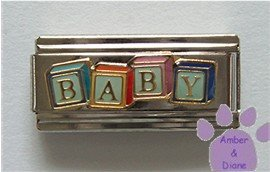 BABY on Building Blocks Super Link Italian Charm