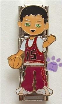 Little Boy Triple Link Italian Charm - basketball player