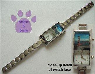 PHOTO BOX Silvertone Italian Charm Watch **add your own photo**