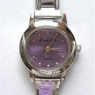 Light Lavender Silvertone Italian Charm Watch with 15 links