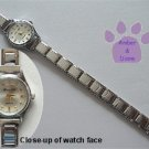 White Silvertone Italian Charm Watch with 15 links & bars on face