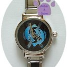 Zodiac Silvertone Italian Charm Watch PISCES Feb 19 to March 20