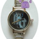 Zodiac Silvertone Italian Charm Watch SCORPIO Oct 23 to Nov 21