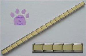 Italian Charm Starter Bracelet in CREAMY YELLOW