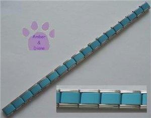Italian Charm Starter Bracelet in LIGHT BLUE