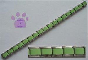 Italian Charm Starter Bracelet in LIGHT GREEN