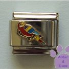 Parrot Italian Charm red Macaw with blue and yellow wings