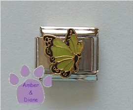 August BUTTERFLY Birthstone with green-peridot color wings