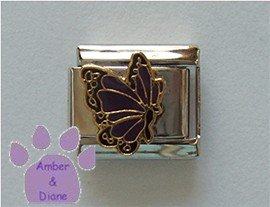 February BUTTERFLY Birthstone with purple-amethyst color wings