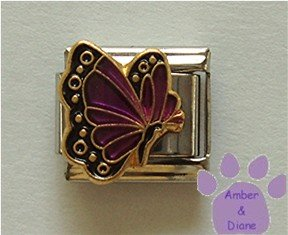 February BUTTERFLY Birthstone with purple-amethyst colored wings